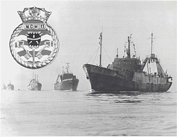 Minesweeping trawlers of the 11th MCM Squadron at Gibraltar