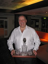 Pawl Stockley with his decanter set