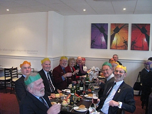 Sharpe, Dutton, Holloway, Barlow, Hoole and Lusty at TCA Christmas lunch