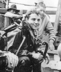 Alf Wannerton in his naval diving days