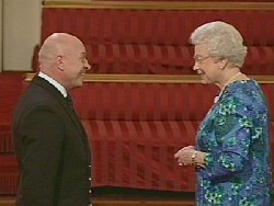 Bob Hawkins with Her Majesty