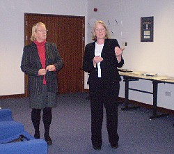 Sue Williams and Liz Eastwood