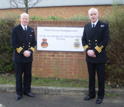 MCDOA Chairman & SofD Chris Ameye with CO FDS Bernie Thompson
