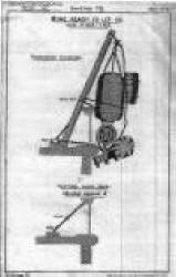 Rigging arrangement for British EM mine c.1891