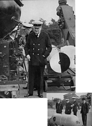 Churchill as First Lord of the Admiralty visiting HMS Vernon 21 Sep 1939
