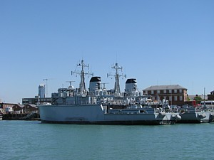 Cottesmore and Dulverton lying derelict in Haslar Creek
