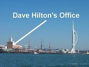 Dave Hilton's lofty office