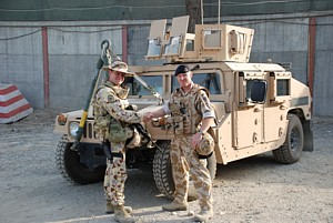 MCDOA members Dave Ince and Chris Ameye in Afghanistan