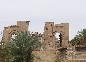 Diocletian Gate on island of Agilka, recovered from flooded island of Philae by RN divers in 1977/8