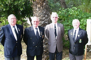 George Porter, Alan (Blood) Reid, Peter Gallant and Dick Conway