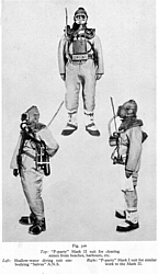 Diving suits used by 'P' Parties