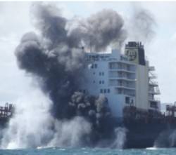 MSC Napoli explosively separates