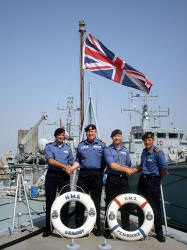 HMS Grimsby and HMS Pembroke change Commanding Officers
