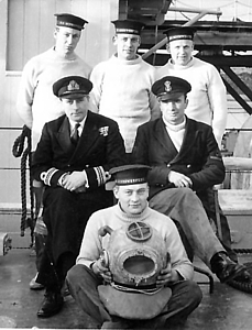 51st MSF Diving Team on board HMS Brenchley c.1954/5