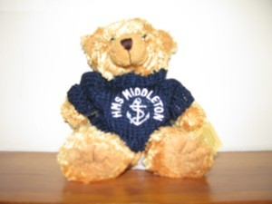 My HMS Middleton teddy bear mascot
