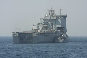 HMS Pembroke rafted with RFA Lyme Bay Exercise Shamal 2009