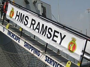 HMS Ramsey in Bahrain