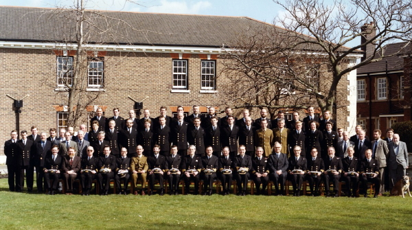 HMS Vernon Wardroom Mess members on closure March 1986