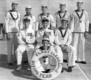 Harry Wardle as OIC of the Far East Fleet Clearance Diving Team in Hong Kong c.1955