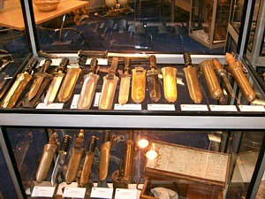 John Wilkins' diving knife collection
