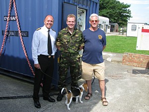 Paul Jones (Superintendent of Diving and MCDOA Chairman) with Tim O'Neill and Mike Ey