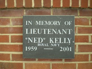 Memorial plaque for Ned Kelly on Horsea Island