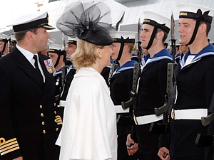 The Countess of Wessex inspects Guard with Paddy McAlpine