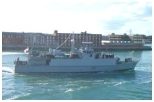 HMS Sandown's last entry