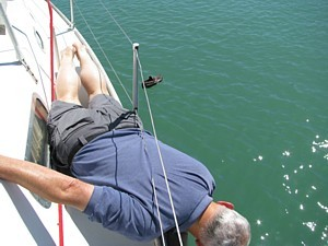 Shoe overboard recovery exercise
