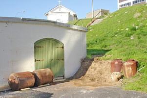 Victorian sea mines in Simon's Town Dockyard