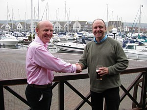 Chris Ameye and Paul Jones after their handover