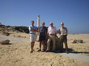 Jon Cox, Rob Hoole, Joe Isaacs and Bill Norton at Trafalgar Bicentenary Monument