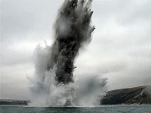 Mine blown off Swanage by SDU1 on 7 Oct 2009