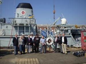 Some of the TCA Members before boarding HMS Cattistock