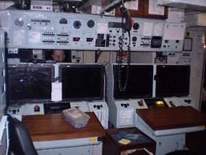 Cattistock's Operations Room containing NAUTIS 3 and Sonar 2193 Consoles