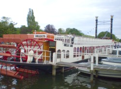 Stern paddle-wheeler Orleans at Henley