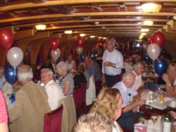 Dinner on board the Orleans