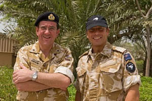 CTF 152 (Cdre Peter Hudson RN) with Topsy in Bahrain earlier this year