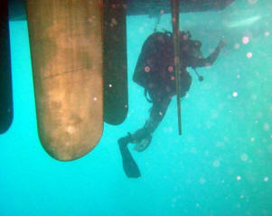 Clearance Diver surveys Blyth's Voith-Schneider propulsors