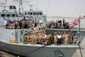 HMS Atherstone and HMS Blyth in Umm Qasr