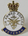 Veteran's lapel badge